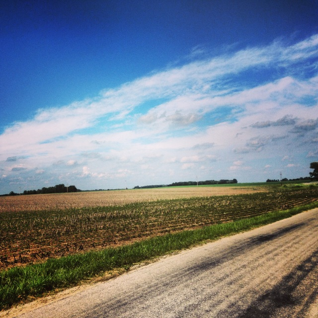 Post-rehearsal bike ride on the outskirts of town. Central Indiana looks suspiciously like South Dakota.