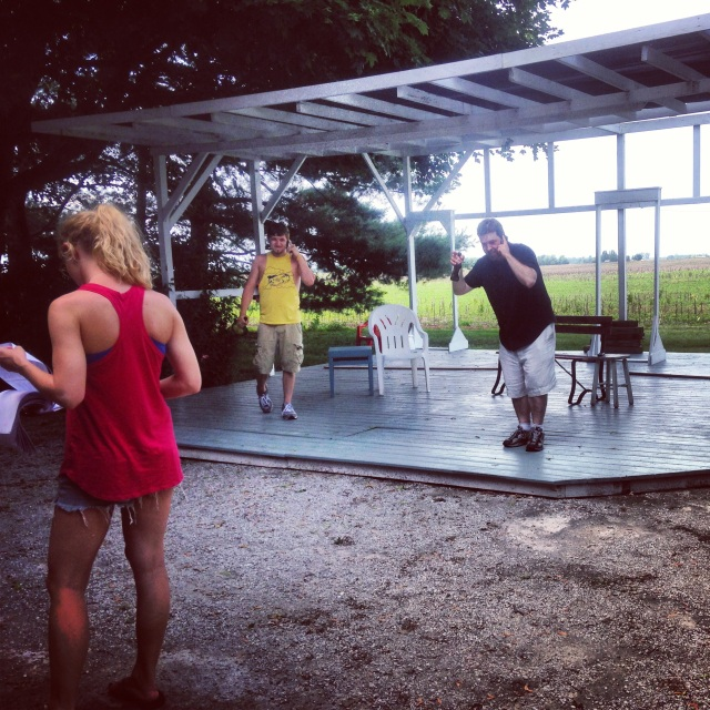 """In rehearsal for our first show of the summer, """"For Better"""" by Eric Coble."""