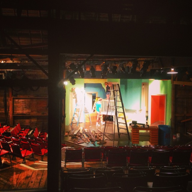 "Construction for ""Black Comedy."""