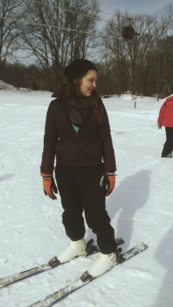 As glamorous as I get with skis on my feet.